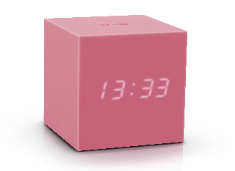 Gravity Cube Click Clock - Pink