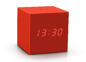 Gravity Cube Click Clock - Red