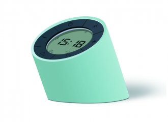 Green Edge Light Alarm Clock